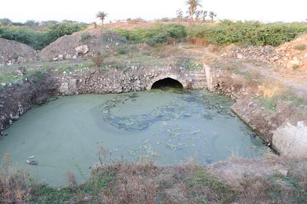 The Surang Baudi, part of the karez of BIjapur, after the accumulation of water. Photo credit: Joginder Singh.