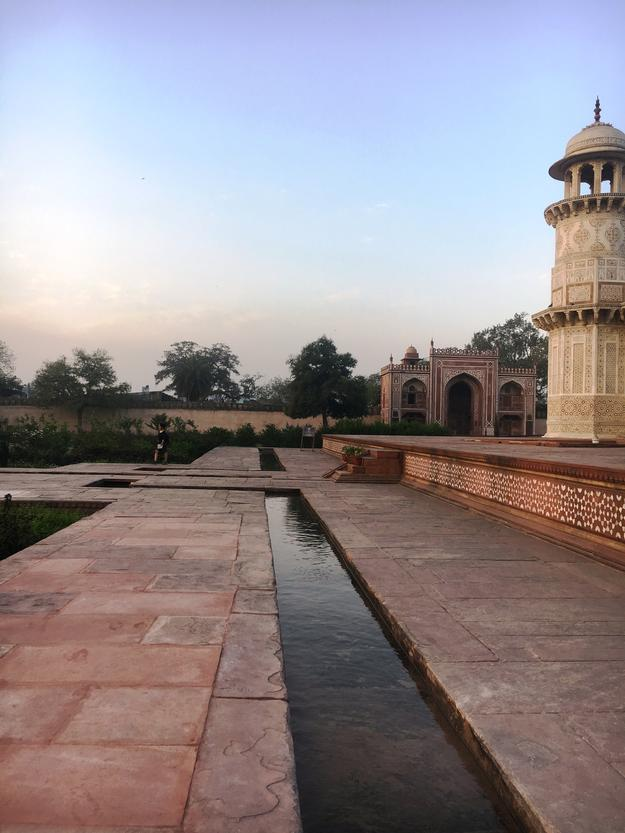 Completed waterway at the I'timad-ud-Daulah Tomb, 2018