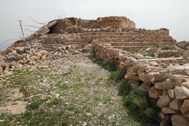 The destroyed remains of the Mam Rashan Shrine, 2017. Photographer credit: Robert Leutheuser.