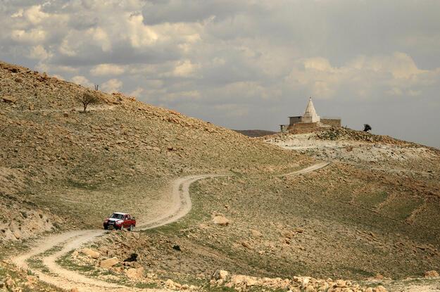 View of the Mam Rashan Shrine before destruction, 2014. Photographer credit: Robert Leutheuser.