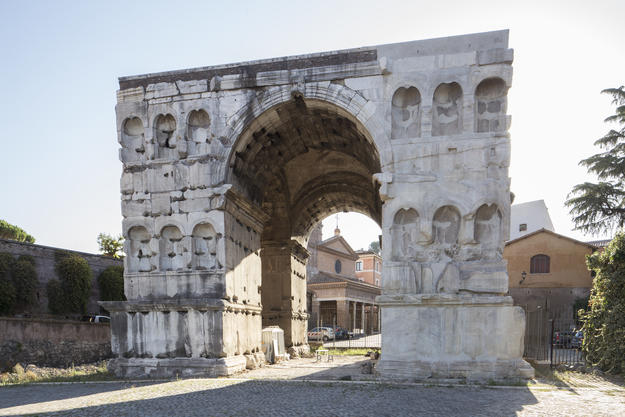 Arch of Janus, after restoration, 2017