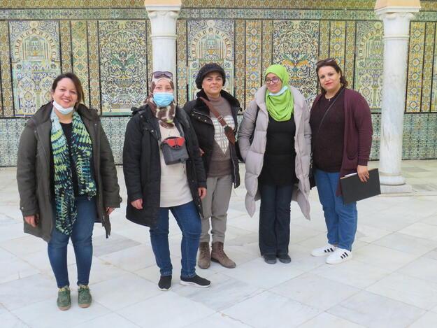Site visit to the Sidi Sahbi Mausoleum in Kairouan, December 2020.