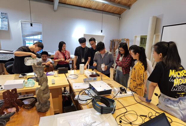 CRAFT students learning materials for conservation, 2020