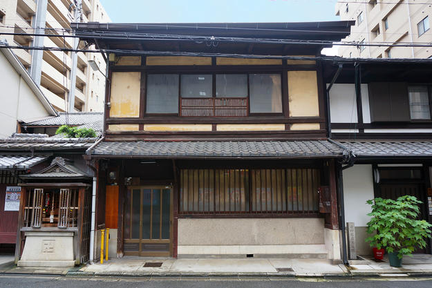 Main Façade of the Machiya (Before Restoration), 2016