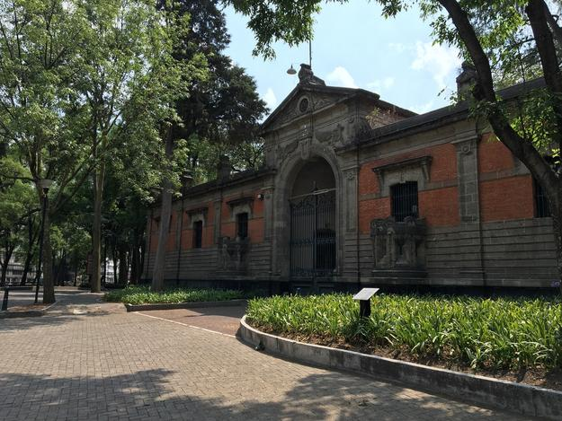 Nineteenth-century gate house in Chapultepec Park once served as the entrance to the military school that operated in the park, 2016