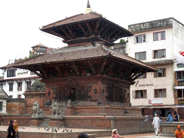 Char Narayan Temple in the center of Patan's Durbar Square, before the earthquake, 2013