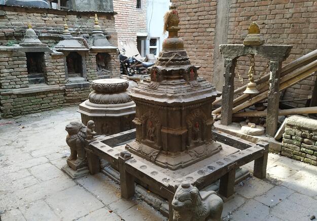 The chivas and chaityas are found in public or semi-public locations, 2018.