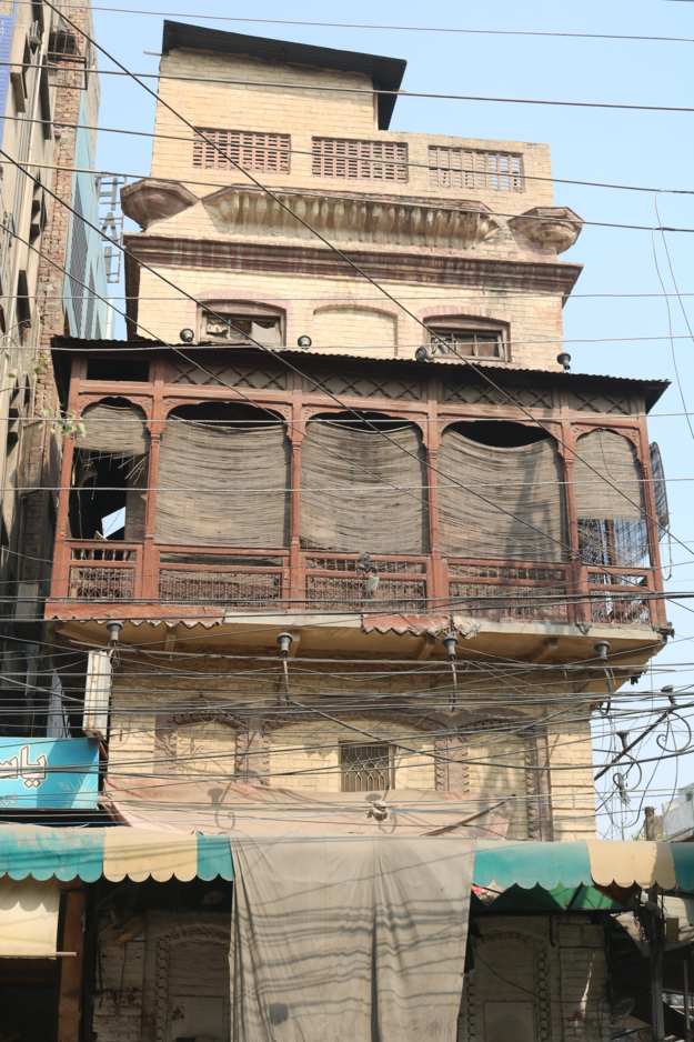 A traditional home in the mohollah with a style representing various architectural periods and uses, 2018.