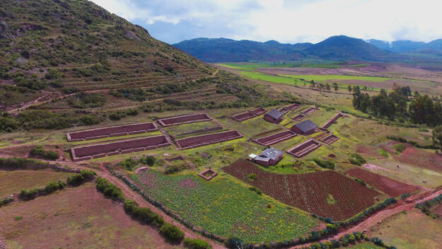 The cultural landscape of the Sacred Valley of the Incas in Peru.
