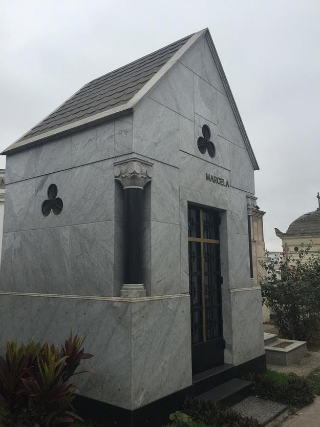 Marcela Perez de Cuellar's mausoleum, 2015