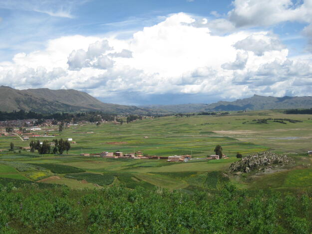 The area designated for the construction of the new Chinchero Airport, 2017.