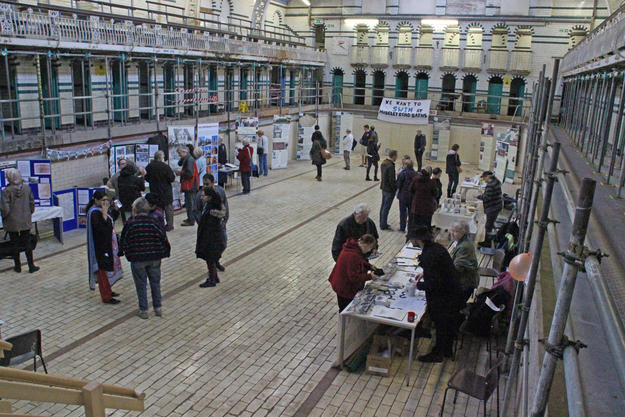 Local history and community groups participated in Watch Day at Moseley Road Baths
