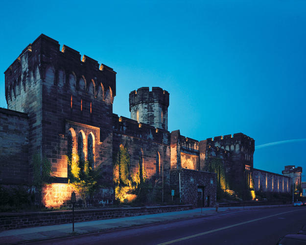 The site at night, ©Eastern State Penitentiary/Tom Bernard, 2003