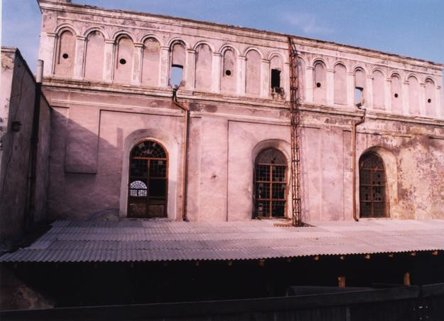 Façade showing damage, c1998
