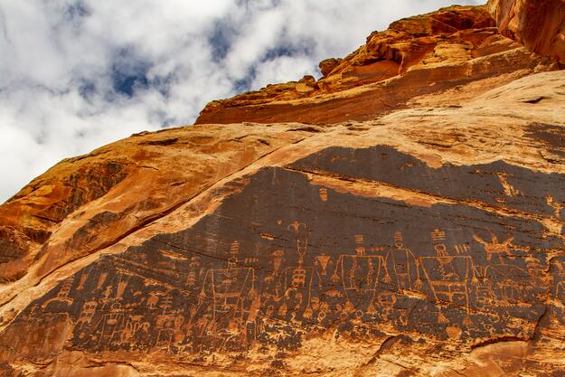 Kachina Petroglyph Panel, 2019.