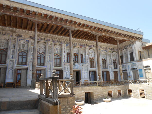 Traditional houses in the Old Jewish Mahalla of Bukhara