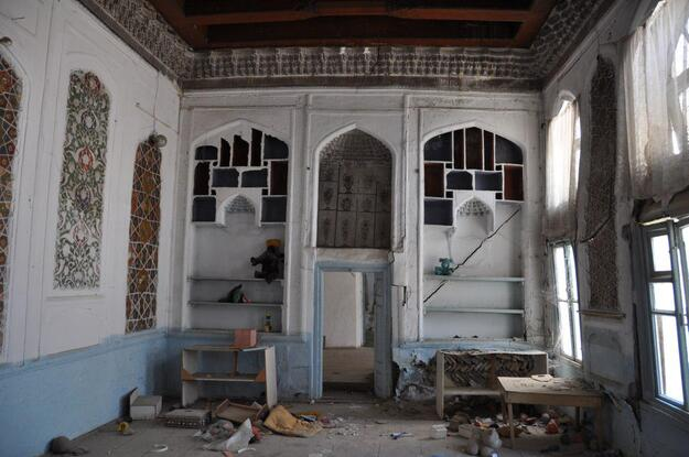 Inside a traditional Bukharian house in need of conservation, 2019.