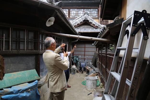 Nishimura Tei undergoing restoration, Kumamoto, Japan.