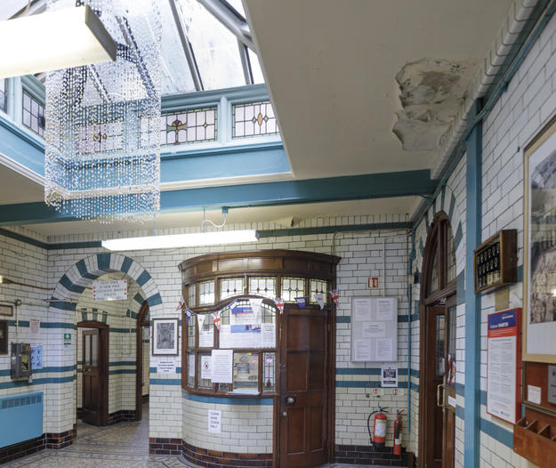 interior of Moseley Road Baths, 2018
