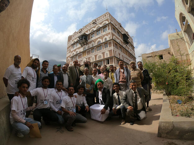 Project team at Imam palace, Watch Day 2020