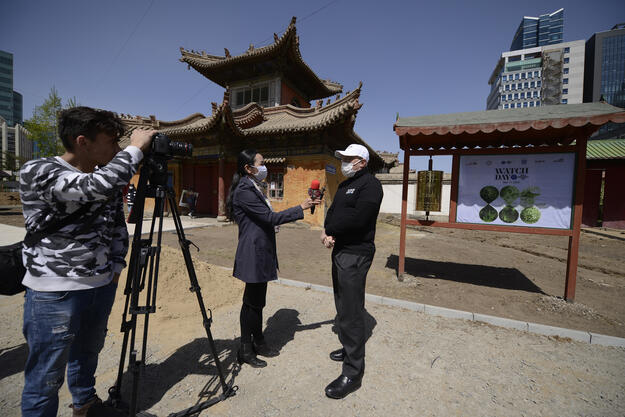 Interview during Watch Day at Choijin Lama Temple, May 2020