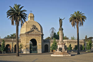 The main entrance to the General Cemetery of Santiago, 2006