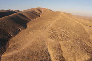 The Chug-Chug Geoglyphs are located along an ancient caravan route that connected two oases, the Calama and Quillagua, 2015