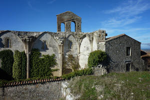 Ruined church now serving as entrance to convent, December 2011