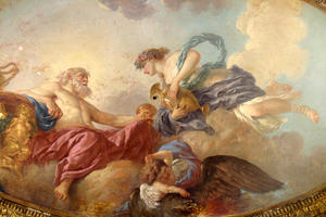 a painting by Jean-Jacques Lagrenée for the ceiling of a house built around 1707 in Paris for Philippe II, the duke of Orléans;, June 2013