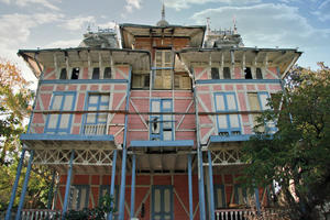 This colorful 1910 Georges Baussan house was built for the founder of Haiti's first Chamber of Commerce., February 2009
