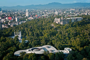 Chapultepec Park is a large oasis of forest land surrounded by Mexico City's urban center, 2011