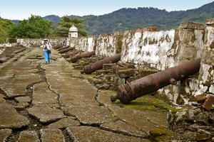 Atop San GerÛnimo Fort, the largest and most impressive of the Fortifications of Portobelo, 2015