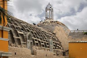 A view of the crossing and the dome of La Ermita de Barranco, 2015