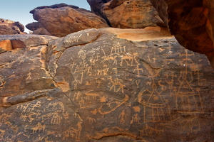 An example of the rock drawings that survive at Sabu-Jaddi, 2015