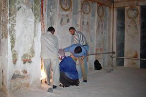 Conservators at work, 2004