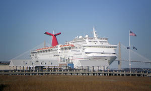 Cruise ship in Charleston port, February 2013