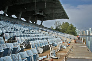 View of damaged seats, February 2010
