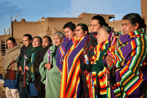 Taos Pueblo Governor, War Chief, and Council. Taos is governed by a traditional tribal government, 2008