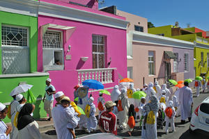A procession along Bo-Kaap's Chiappini street to mark the Islamic New Year, 2014