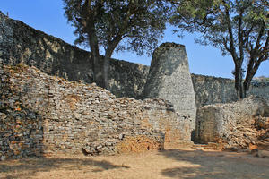 The conical tower inside the Great Enclosure at Great Zimbabwe, 2015