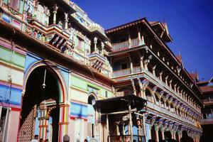 Facades in Ahmedebad, India.