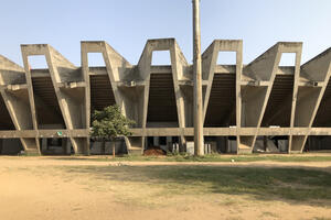The Sardar Vallabhbhai Patel Stadium was one of the first folded-plate structures in India, 2018.