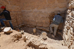 Conservation work at Qusayr 'Amra, Jordan