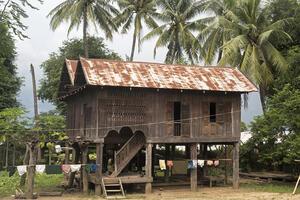 Rural teak farmhouse in Kywe Chin Village, north of Nay Pyi Taw, 2017.