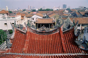 Roofscape around Khoo Kongsi Square, Georgetown, Malaysia