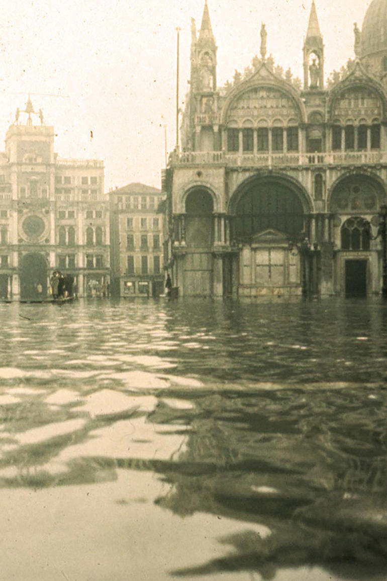 Piazza San Marco in 1966, after the worst flood in the city's history