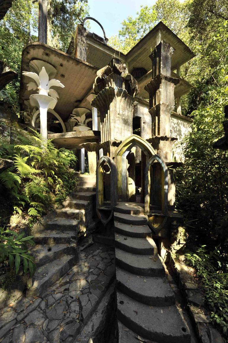 Las Pozas was conceived as a surrealist interpretation of the Garden of Eden, where architecture and nature intertwine to create a unique landscape.