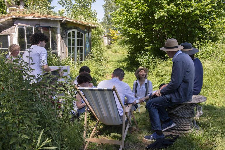 Writing in the garden workshop, Watch Day 2019.