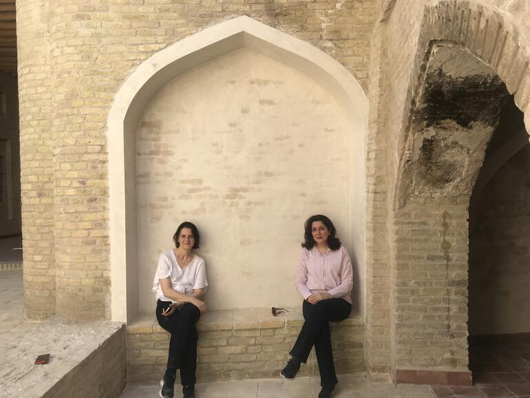 Alessandra and her colleague, Ranan Tawfiq, Chief Architect of the Erbil Citadel project, in Erbil, 2020.