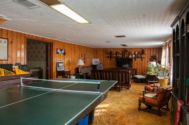 The basement den of the Dr. Richard H. Harris, Jr. House, where many Civil Rights Movement strategy meetings occurred.